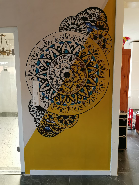mandala muurschildering
